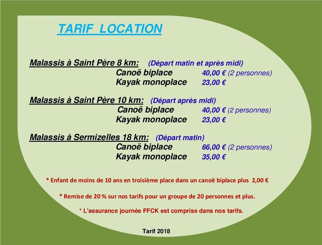 2018 plaquette tarif location internet